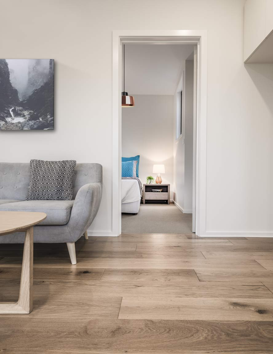 granny flat Melbourne living interior