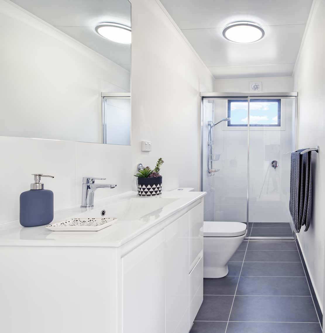 The Interior of the bathroom in on of our granny flats