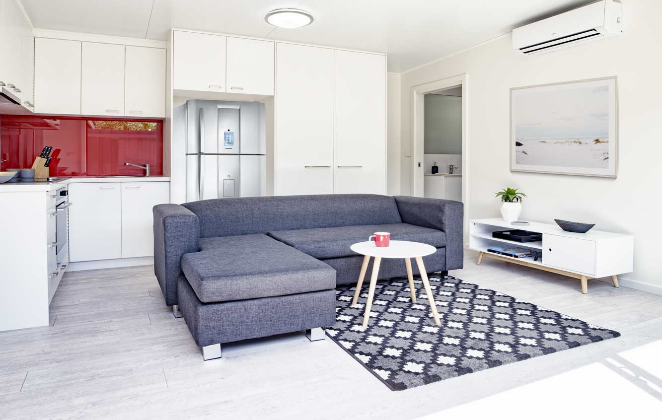 Interior of one of our granny flats from The Garden Studios