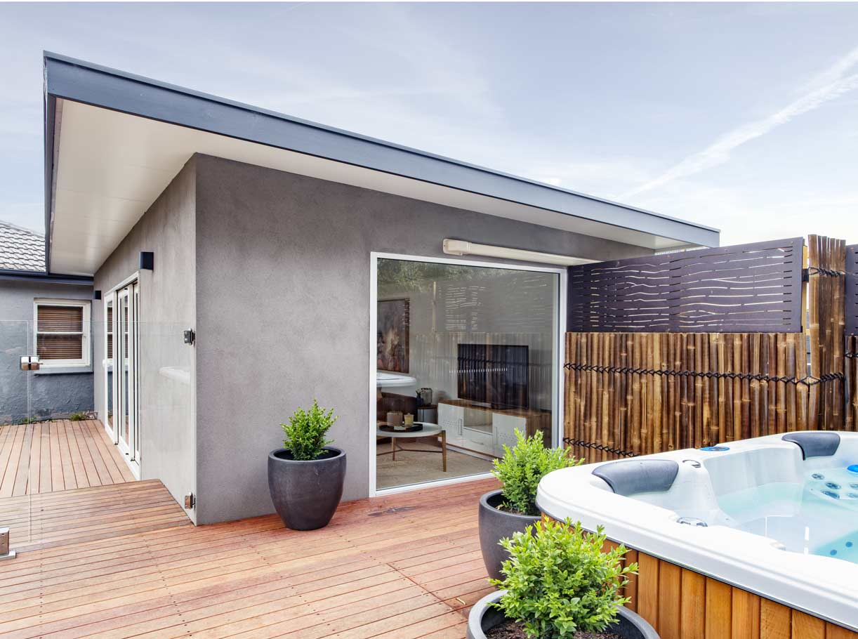 The exterior of one of our extensions