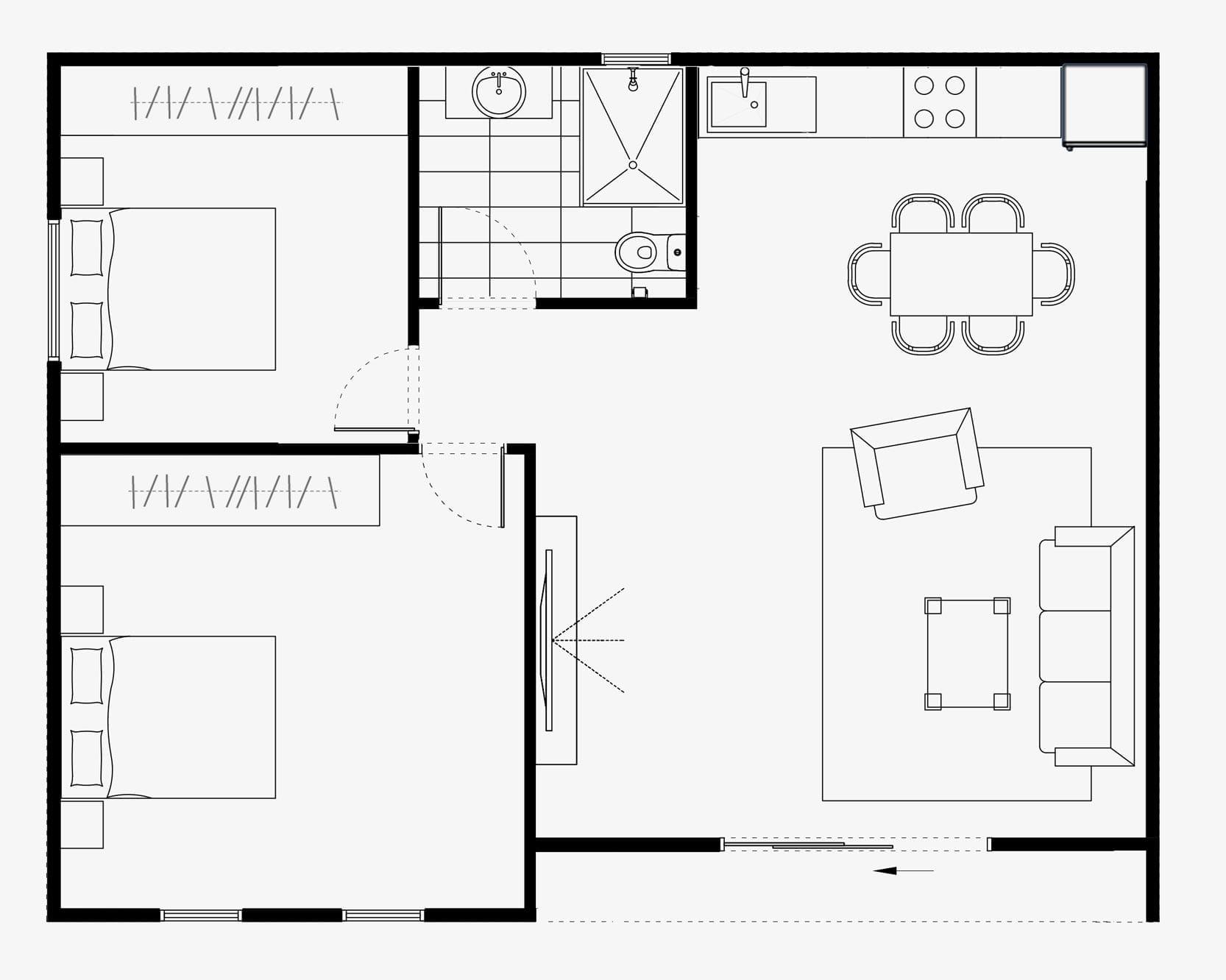garden studio bawa floor plan