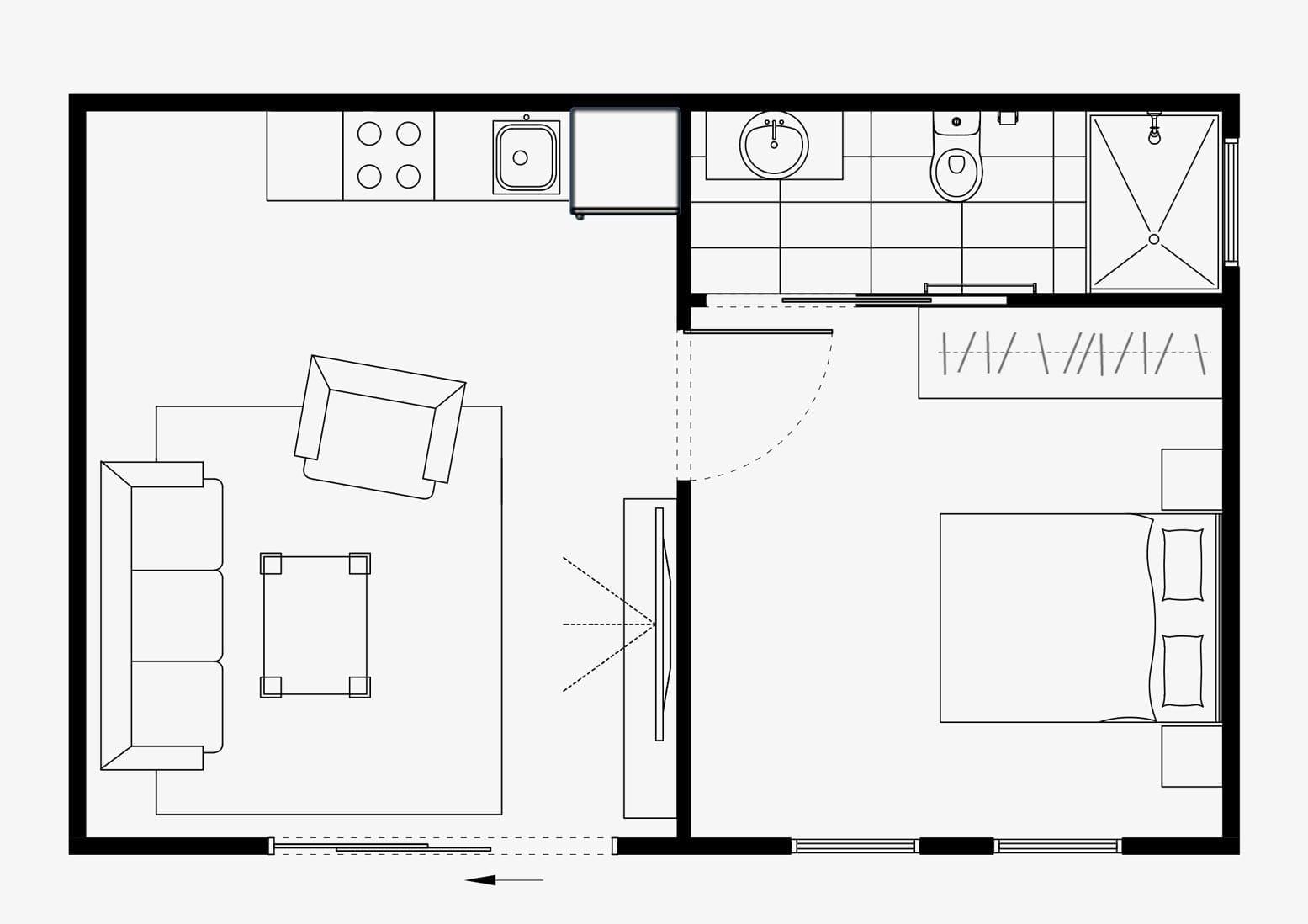 granny flat floor plan foster